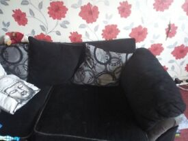 Black and grey corner sofa for sale
