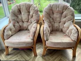 Conservatory/Garden Cane/Wicker Chairs