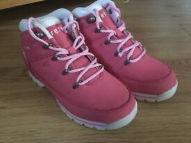 Pink leather firetrap boots