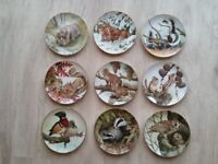 Fine Porcelain Plate Collection X 9 The Forest Year by John Francis 1982