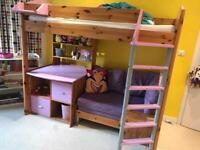 Stompa high sleeper bed lilac
