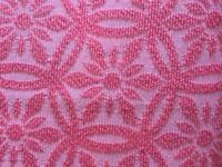 VINTAGE RETRO KITSCH BRIGHT PINK FLORAL PATTERNED FRINGED DOUBLE BEDSPREAD THROW BLANKET