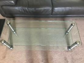 Glass tv table /coffee table - excellent quality