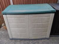 OUTSIDE GARDEN STORAGE CONTAINER