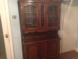 Dark Oak Welsh Dresser £95 ono