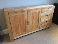 Solid Oak Sideboard, Harveys Portsmore Range