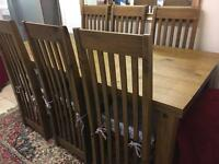John Lewis Large Solid Wood Dining Table with 8 Chairs