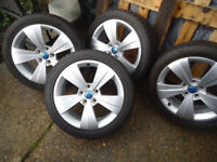 4x17 Alloys Wheels and Winter TYRES Will Fit VW T- 4 VW Caddy Golf Passat Shara