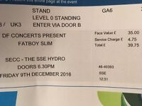 Fatboy Slim Glasgow Standing Ticket !!!! FACE VALUE (£40)