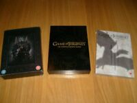 Game Of Thrones DVD Boxsets Seasons 1,2 & 3