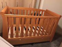 Baby nursery furniture, baby cot, wardrobe, dresser all set 210£