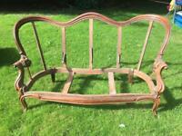 Victorian serpentine sofa frame