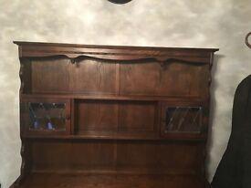 Old charm dk oak dresser top only no base