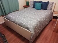 GREAT DOUBLE BED COMPLETE (frame and mattress)