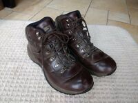 Brown Leather Hiking Boots - Size 13