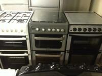 Hotpoint silver 50cm gas cooker