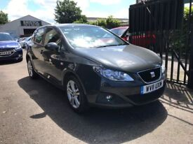 Seat Ibiza 1.4 Petrol Manual 5 Door Hatchback Grey 2011 Stunning Low Mileage Car