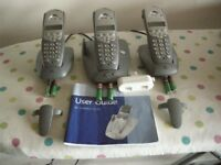 BT SYNERGY 3105 three cordless phones