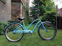 Beautiful California style beach cruiser bike