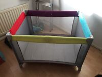 Travel cot as new used twice