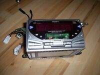 CAR STEREO SONY PLAYER PLAY CD/TAPE AND RADIO DOUBLE PLAY CD AND TAPE