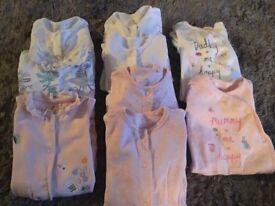Next girl sleepsuits