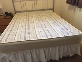 Single, double and King size bed and mattress set.