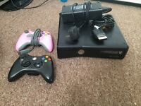 X-BOX 360 for sale with two controllers.