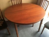DINING ROOM OVAL TABLE AND 4 MATCHING CHAIRS-McINOSH &CO