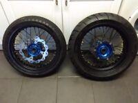 Supermoto wheels husky KTM ect talon pro billet hubs talon sprocket