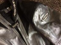 Racewell motorbike leathers jacket and trousers