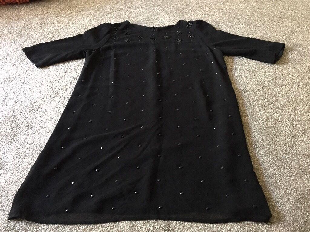 Black dress debenhams - Lovely Jasper Conran For Debenhams Black Evening Dress Size 18