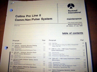 Collins Pro Line II Com, Nav & Pulse Systems Ramp Testing  Manual
