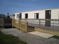 Static caravan, 2 bedrooms, 37' x 12' for sale off site.Buyer removes