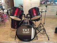 "DD Devil Drum Kit-5 piece & Paiste 20"" Ride Symbol"