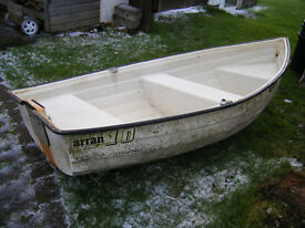 Arran 10 Dinghy, 10ft in length, GRP, simulated clinker build. Built in buoyancy