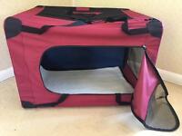 Folding fabric pet carrier- extra large