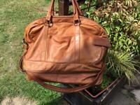 Vintage leather orvis holdall