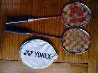 Badminton raquets x2