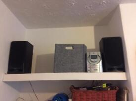 JVC stereo & Akai speakers - SOLD