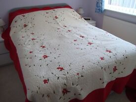2 x Lightly quilted King size bedpreads