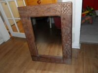 SOLID WOOD CARVED MIRROR (60 X 80 CMS)