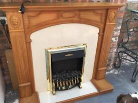 Electric fire and fireplace for sale