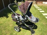 EXCELLENT CONDITION iCandy Double Carrycot & Stroller in one