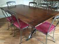 Ducal furniture - Dining table, chairs & Baker's rack
