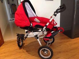 3 wheeler pram/buggy