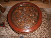 Vintage Chinese Coffee Table carved rose wood