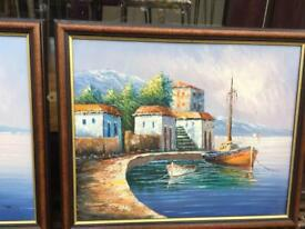 MEDITERRANEAN COASTLINE PAINTINGS