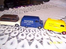 Set of three Corgi Bedford 10/12cwt vans