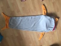 Kids shark sleeping bag